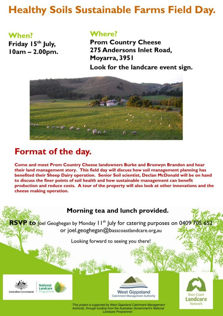 Healthy Soils sustainable farms field day flyer